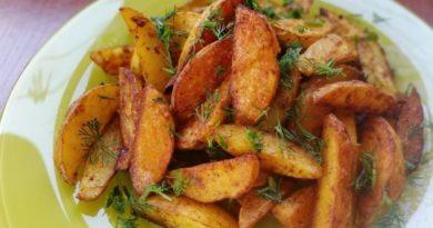 Рецепты приготовления картошки по-деревенски в духовке