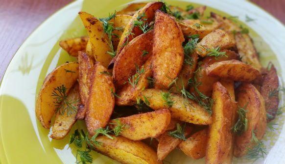 рецепт картофеля по деревенски с грибами в духовке