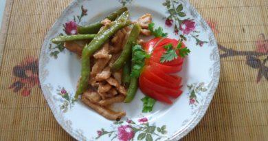 Что приготовить на ужин быстро и вкусно? Конечно мясо с сахарным горохом
