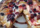 Яблочный пирог — простой быстрый рецепт приготовления заливного песочного пирога с ягодами