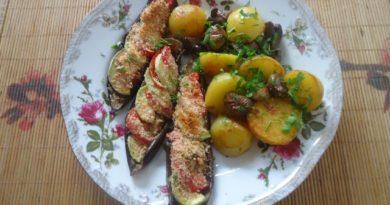 Простые и вкусные рецепты из баклажанов. Баклажаны фаршированные запечённые в духовке