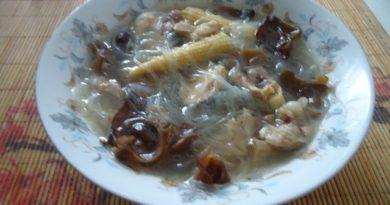 Вкусный и простой рецепт китайского куриного супа с грибами, с фото