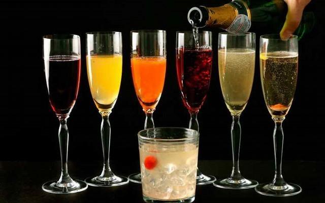коктейли шампанское