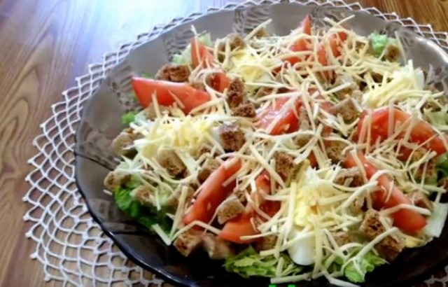10 рецептов салата цезарь