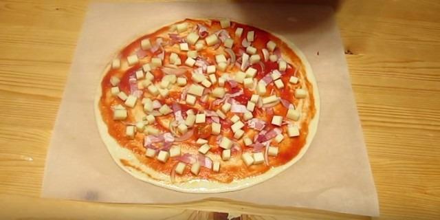 Тесто для пиццы быстро