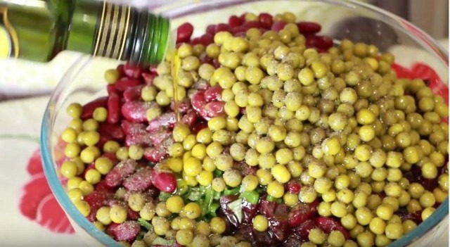 Рецепт очень вкусного и красивого винегрета