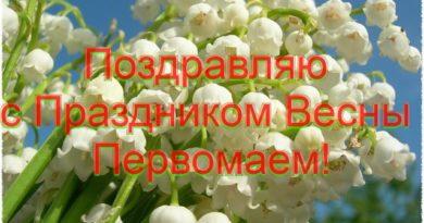Примите мои поздравления с весенним праздником Первомая!
