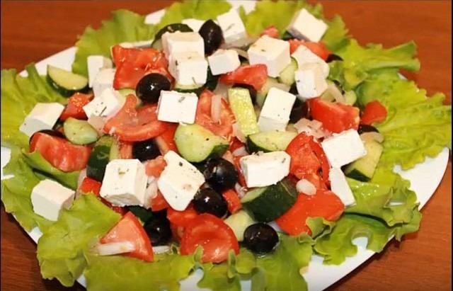 Греческий салат греческий рецепт