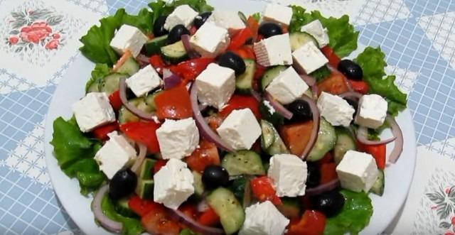 Греческий салат классический пошаговый рецепт