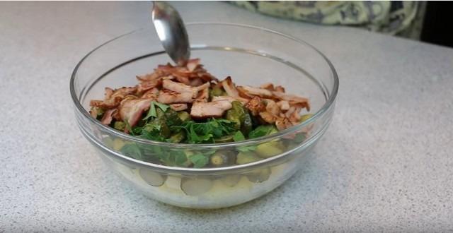 Вкусный салат с картофелем