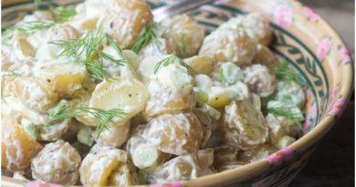 Вкусный салат с картофелем с айоли
