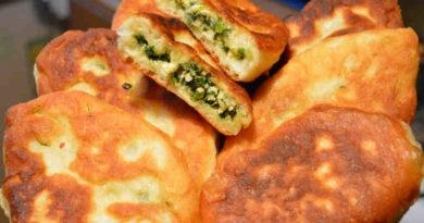 Пирожки. Тесто для пирожков + пирожки с яйцом и зелёным луком