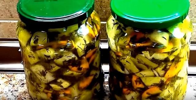 кабачки на зиму как грибы