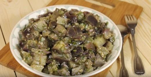 Закуска из баклажанов как грибы