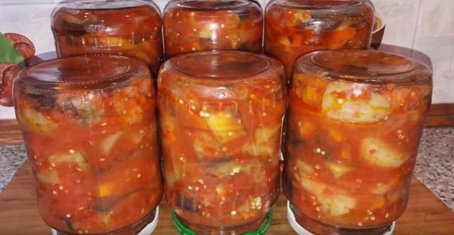 салаты из баклажанов на зиму