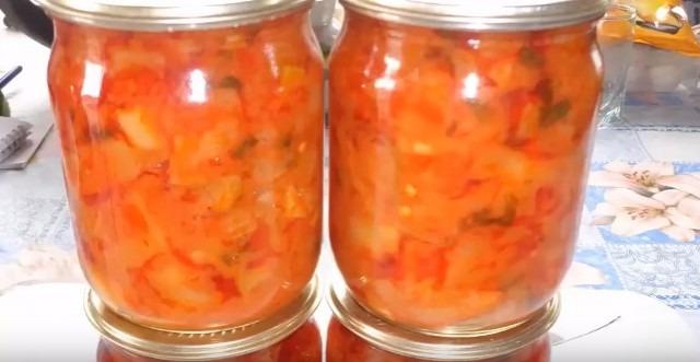 Салат из кабачков на зиму рецепт