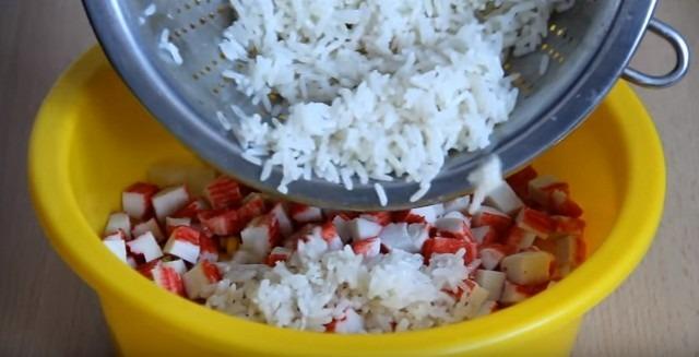 добавляем рис