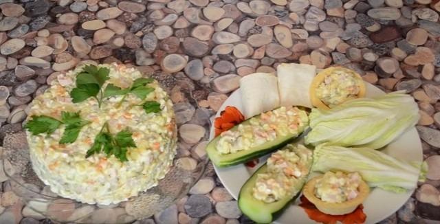 способы подачи салата