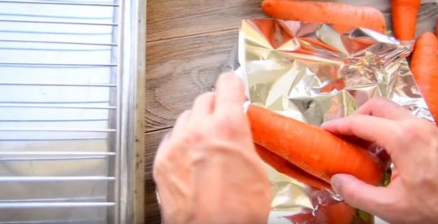 морковь в фольгу