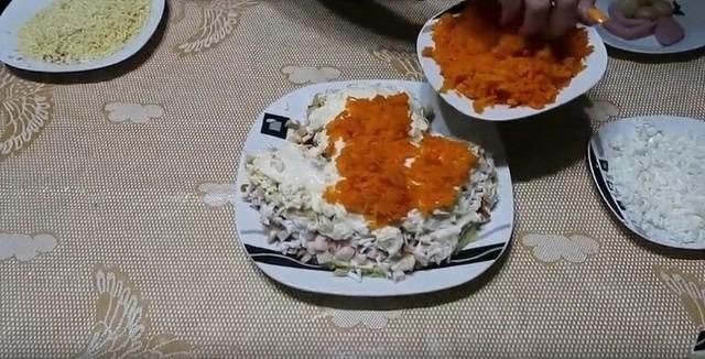 слой моркови