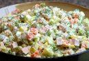 Оливье — классический рецепт салата с колбасой на Новый Год 2018