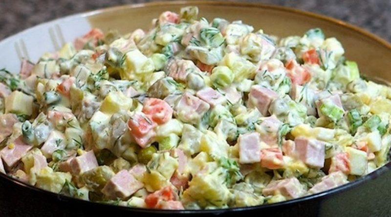 Смотри! Рецепт салата «Оливье» на Новый год 2019 с фото пошагово вкусный изоражения