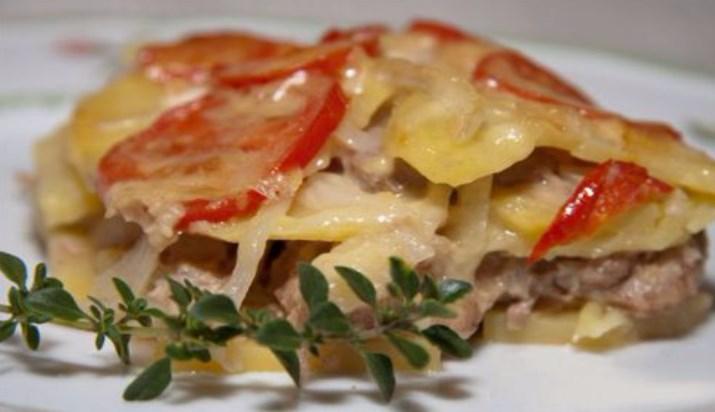 Рецепт мяса по-французски с картошкой в духовке с фото