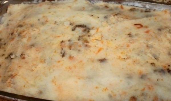 последний слой картофельного пюре