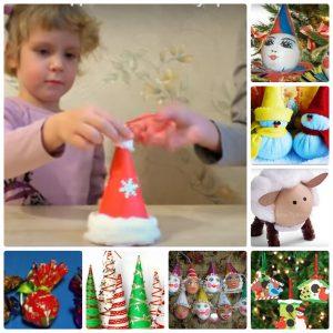 Поделки на Новый год - оригинальные простые поделки своими руками