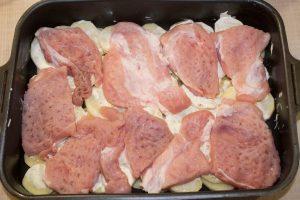 мясо на картофель