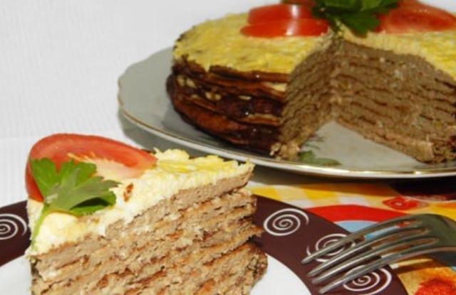классический печеночный торт