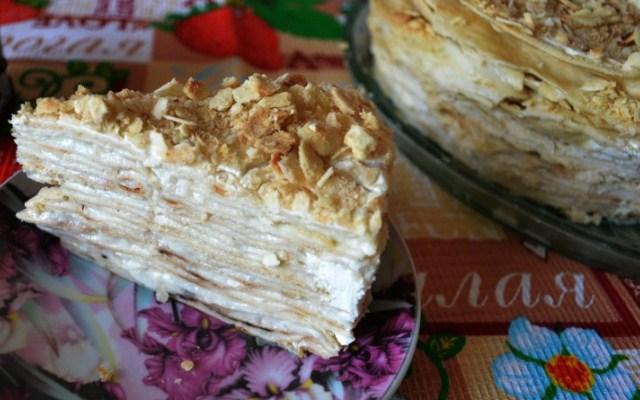 Торт «Наполеон» на сковороде с заварным кремом