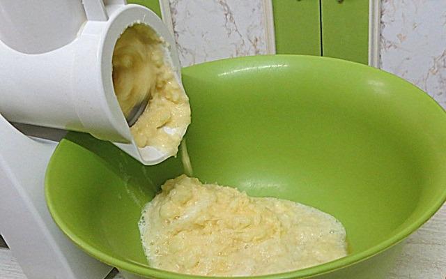 картошку пропустить через мясорубку
