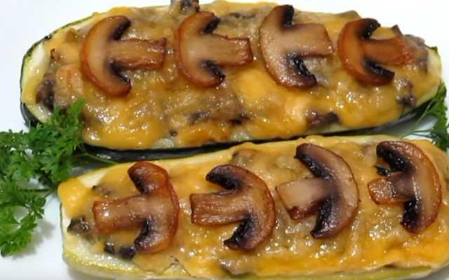 лодочки с грибами и сыром
