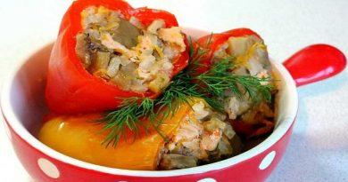 Рецепты приготовления вкусных фаршированных перцев