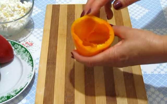 очистить перцы