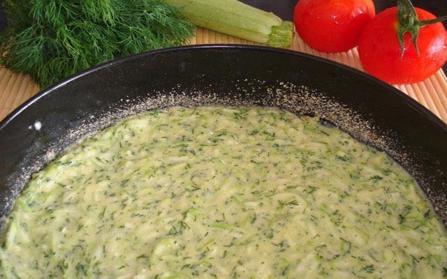 овощное тесто в сковороду
