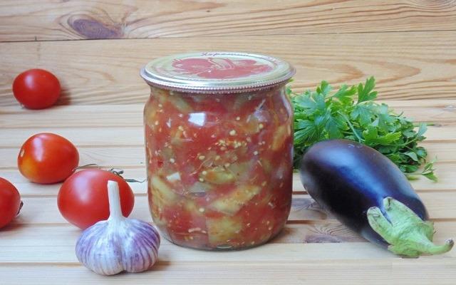 баклажаны с болгарским перцем в томатном соке
