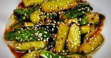 Огурцы по-корейски – самые вкусные салаты острых хрустящих овощей на зиму