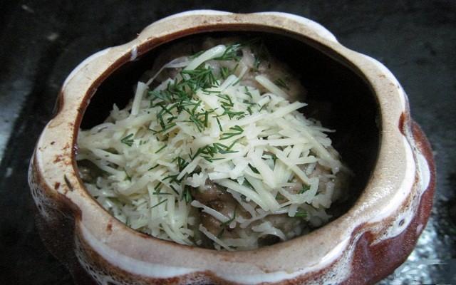 добавить сыр, зелень