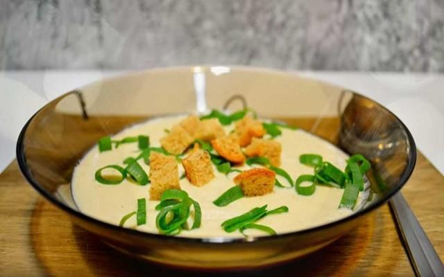 суп пюре с курицей и сыром