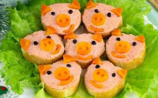 бутерброды свинки