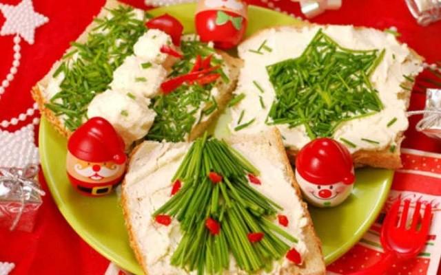 бутерброды елка из зелени