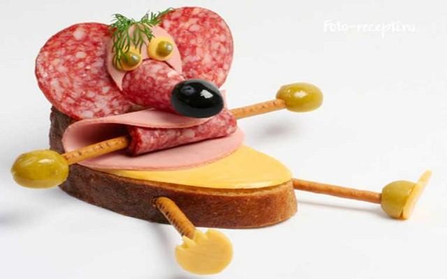 бутерброд мышка
