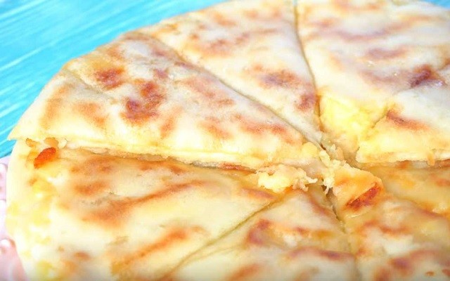 лепешки с картофелем и сыром