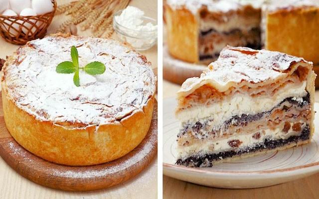 сладкий пирог с творогом