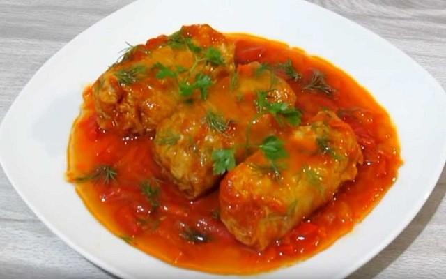 Как приготовить голубцы с мясом из пекинской капусты в духовке