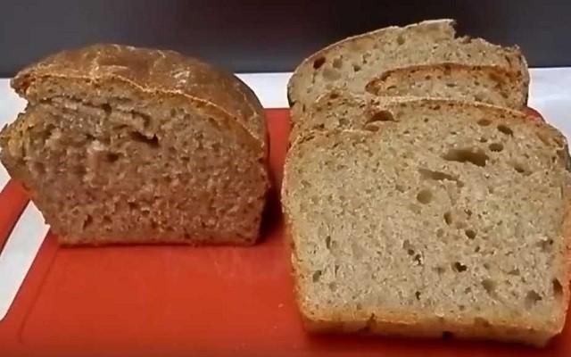 Хлеб из ржаной муки без яиц в духовке