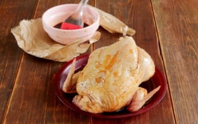 намазать курицу маринадом