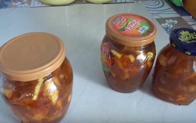 Варенье из ревеня с яблоками и апельсином